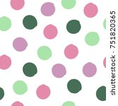 colorful cute grunge polka dot. ... | Shutterstock .eps vector #751820365