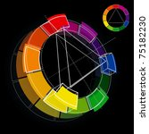 three dimensional color wheel... | Shutterstock .eps vector #75182230