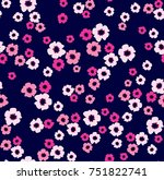 seamless floral pattern in... | Shutterstock .eps vector #751822741
