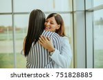 caring young medical doctor... | Shutterstock . vector #751828885