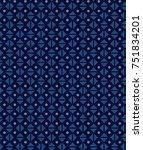 abstract minimal pattern... | Shutterstock .eps vector #751834201