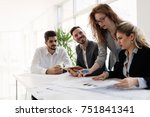group of architects working... | Shutterstock . vector #751841341