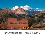 Garden of the Gods Park East Entrance at Colorado Springs - stock photo