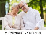 old age  relationship and... | Shutterstock . vector #751847101