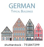 german vector illustration flat ... | Shutterstock .eps vector #751847299