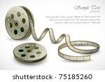 illustration of film reels on... | Shutterstock .eps vector #75185260