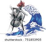 an hand drawn vector...   Shutterstock .eps vector #751853905