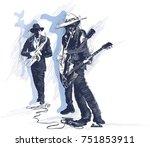 an hand drawn vector... | Shutterstock .eps vector #751853911