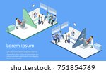 isometric 3d illustration... | Shutterstock . vector #751854769