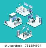 isometric 3d illustration set... | Shutterstock . vector #751854934