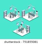 isometric 3d illustration... | Shutterstock . vector #751855081