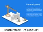 isometric 3d illustration... | Shutterstock . vector #751855084
