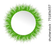circle frame with green grass....   Shutterstock .eps vector #751856557