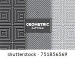 geometric pattern set. simple ... | Shutterstock .eps vector #751856569