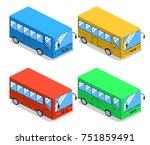 isometric 3d illustration set...   Shutterstock . vector #751859491