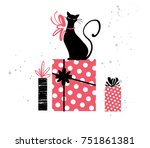 christmas and new year fashion... | Shutterstock .eps vector #751861381
