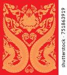 swirl doodle tribal thai and...   Shutterstock .eps vector #751863919