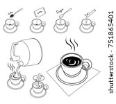 make a cup of coffee.vector... | Shutterstock .eps vector #751865401