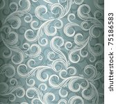 seamless curl floral background ... | Shutterstock .eps vector #75186583