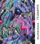bright seamless pattern with... | Shutterstock .eps vector #751868995