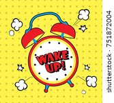 background with comic alarm... | Shutterstock .eps vector #751872004