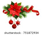 christmas arrangement with... | Shutterstock . vector #751872934