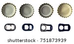 beer bottle caps and ring pulls ...   Shutterstock . vector #751873939