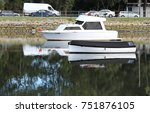 small cabin cruiser and other... | Shutterstock . vector #751876105