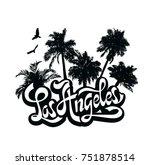 city los angeles  california.... | Shutterstock .eps vector #751878514