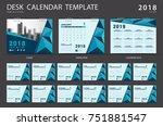 desk calendar 2018 template....   Shutterstock .eps vector #751881547