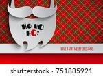christmas holiday design for... | Shutterstock .eps vector #751885921