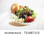 healthy green salad with... | Shutterstock . vector #751887115
