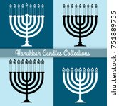 collection of menorah for... | Shutterstock .eps vector #751889755