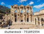 ruins of celsius library in... | Shutterstock . vector #751892554