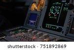 autopilot control element of an ... | Shutterstock . vector #751892869