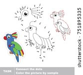 colorful parakeet mother and... | Shutterstock .eps vector #751895335