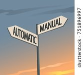 manual or automatic indication... | Shutterstock .eps vector #751896997