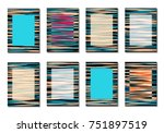 geometric covers. abstract... | Shutterstock .eps vector #751897519