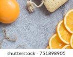 fresh orange scented background ... | Shutterstock . vector #751898905