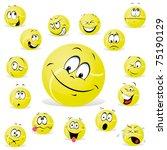 tennis ball | Shutterstock .eps vector #75190129