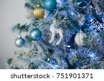christmas decorations  new year | Shutterstock . vector #751901371