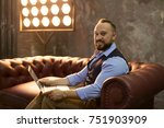 man working with laptop.... | Shutterstock . vector #751903909