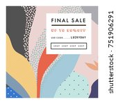 creative sale header or banner... | Shutterstock .eps vector #751906291