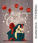 merry christmas greeting card...   Shutterstock .eps vector #751908061