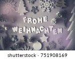letters building german word... | Shutterstock . vector #751908169