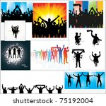 set of posters for sports... | Shutterstock .eps vector #75192004