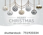 christmas card | Shutterstock . vector #751920334