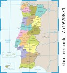 portugal map   high detailed... | Shutterstock .eps vector #751920871