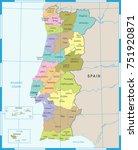 portugal map   high detailed...   Shutterstock .eps vector #751920871