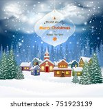 christmas background with... | Shutterstock .eps vector #751923139